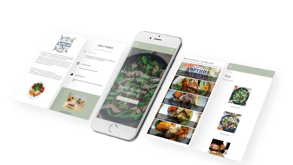 fnscreative - The Ampthill Nutrition Kitchen Mobile Mock Up
